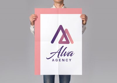 Alva Agency Logo Poster